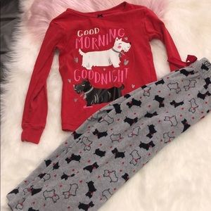 Carter's 5 girlie dog pajamas set long sleeved